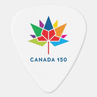 Kanada 150 officielllogotyp - multifärgad gitarr pick