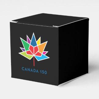 Kanada 150 officielllogotyp - multifärgad och presentaskar