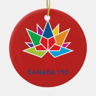 Kanada 150 officielllogotyp - multifärgad och rött julgransprydnad keramik