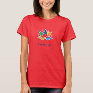 Kanada 150 officielllogotyp - multifärgad och rött t-shirt