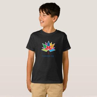 Kanada 150 officielllogotyp - multifärgad och t-shirt