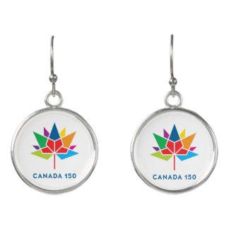 Kanada 150 officielllogotyp - multifärgad örhängen