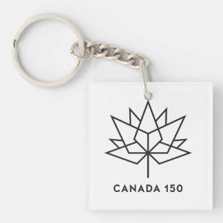 Kanada 150 officielllogotyp - svarten skisserar