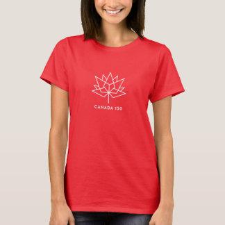 Kanada 150 officielllogotyp - vit skisserar t-shirts