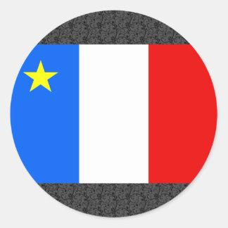 Kanada Acadiaflagga Runt Klistermärke