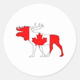 Kanada älg runt klistermärke