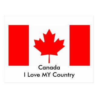 Kanada älskar jag MIN mall för landflaggaCA Vykort