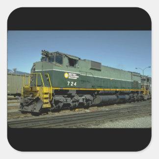 Kanada brittiska Columbia_Trains av världen Fyrkantigt Klistermärke
