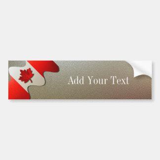 Kanada Flagga-Krom av Shirley Taylor Bildekal