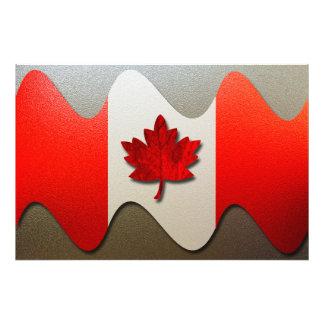 Kanada Flagga-Krom Konstfoto