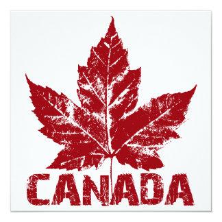 Kanada för coola för Kanada inbjudanpersonlig OSA Fyrkantigt 13,3 Cm Inbjudningskort
