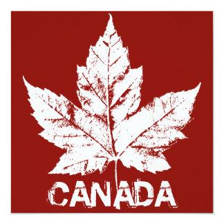 Kanada för coola för Kanada inbjudanpersonlig OSA Individuella Inbjudningskort