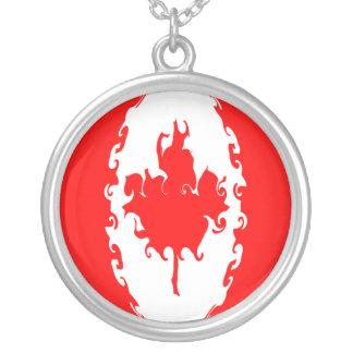 Kanada Gnarly flagga Halsband Med Rund Hängsmycke