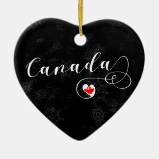 Kanada hjärta, julgranprydnad, kanadensare julgransprydnad keramik