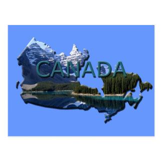 Kanada landskap kartavykortet vykort