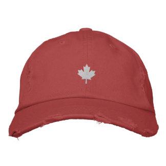 Kanada lock - vitlönnlövhatt broderad baseball keps