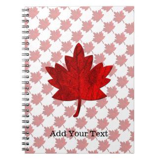 Kanada-Lönn löv av Shirley Taylor Anteckningsbok Med Spiral