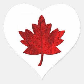 Kanada-Lönn löv av Shirley Taylor Hjärtformat Klistermärke