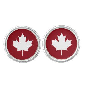 Kanada lönnlövCufflinks Manschettknappar