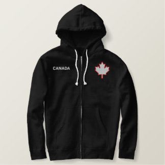 Kanada lönnlövHoodie Broderad Luvtröja