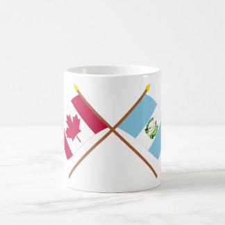 Kanada och Guatemala korsad flaggor Kaffemugg