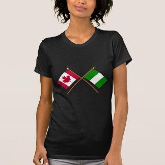 Kanada och Nigeria korsad flaggor T-shirt