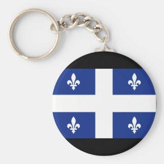Kanada Quebec flagga Rund Nyckelring