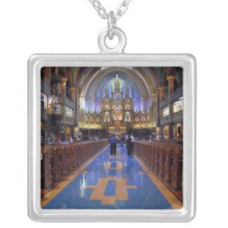 Kanada Quebec, Montreal. Insida av Notre 3 Silverpläterat Halsband