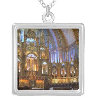 Kanada Quebec, Montreal. Insida av Notre Silverpläterat Halsband