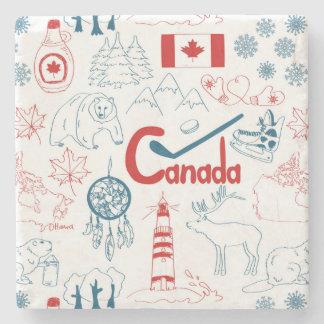 Kanada | symbolmönster stenunderlägg