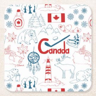 Kanada | symbolmönster underlägg papper kvadrat