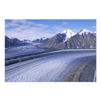 Kanada Yukon territorium, Kluane medborgarePark. Fototryck