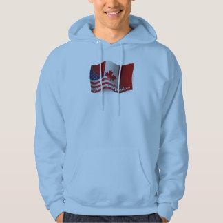 Kanadensare-Amerikan som vinkar flagga Hoodie