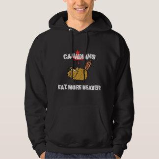 Kanadensare äter mer bäver sweatshirt med luva