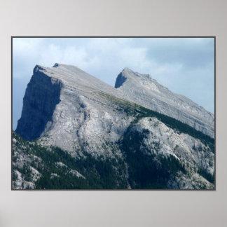 Kanadensare landskap det Banff rocky mountainstryc Poster