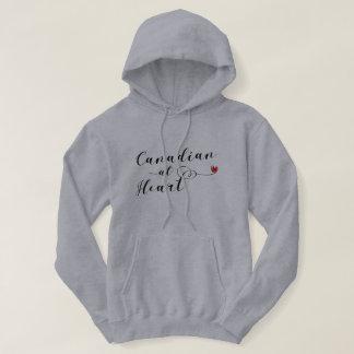 Kanadensare på hjärtahoodien, Kanada Sweatshirt Med Luva