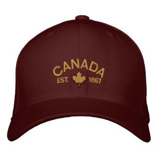 Kanadensisk årsdagbroderi Kanada Broderad Keps