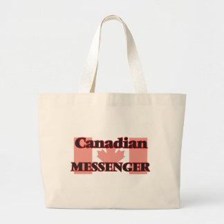 Kanadensisk budbärare jumbo tygkasse