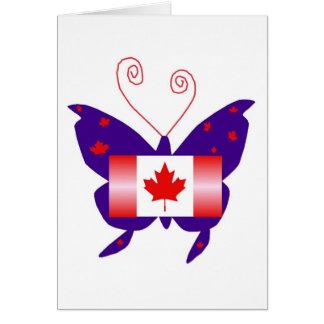 Kanadensisk Divafjäril Hälsningskort