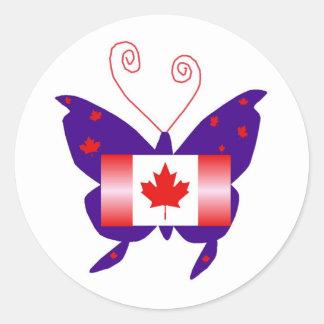 Kanadensisk Divafjäril Runt Klistermärke