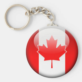 Kanadensisk flagga 2,0 rund nyckelring