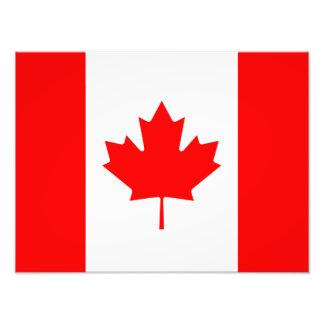 Kanadensisk flagga av Kanada röd lönnlövl'Unifolié Fototryck