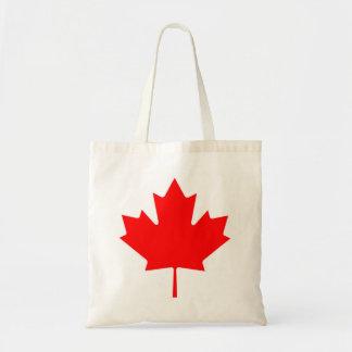 Kanadensisk flagga av totot för Kanada den röda Budget Tygkasse