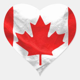 Kanadensisk flagga hjärtklistermärken