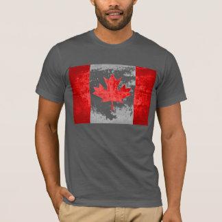 Kanadensisk flagga för Grunge T-shirt