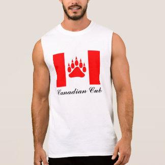 Kanadensisk flagga för kanadensisk unge med sleeveless t-shirt