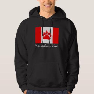 Kanadensisk flagga för kanadensisk unge med sweatshirt med luva