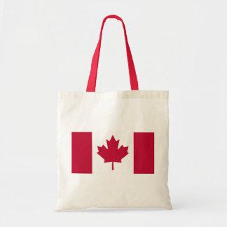 Kanadensisk flagga tote bags