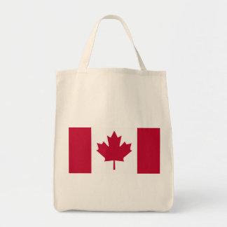 Kanadensisk flagga mat tygkasse