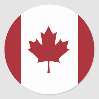 Kanadensisk flagga runt klistermärke